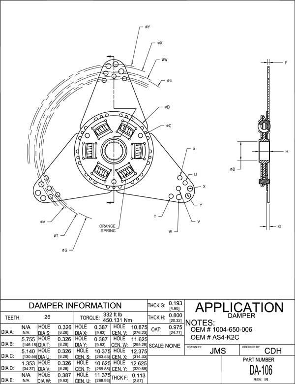 Volvo Penta / BorgWarner AS4-K2C vibratsiooni summuti