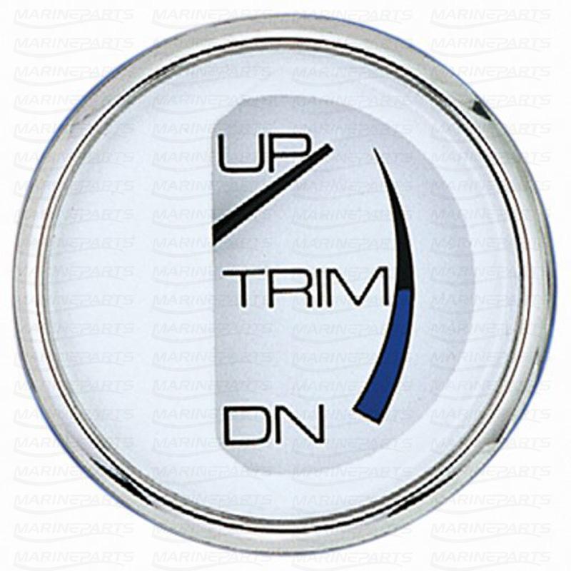 Mercury/Marineri, Mercruiseri & Volvo DP trimmi näidik (valge roostevabast terasest