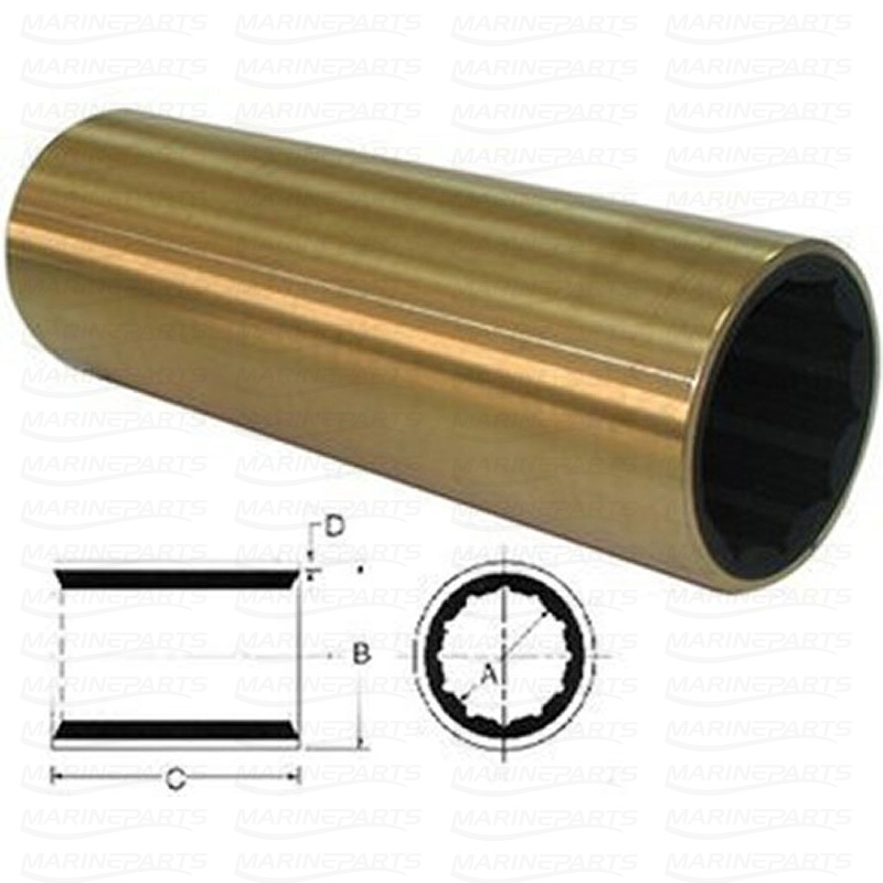 Rubber Bearing/Cutless Bearing 50 x 66 x 200 mm