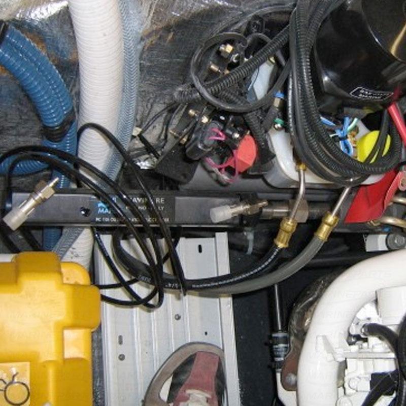 Hydraulisk styringspakke indenbords med servo til MERC Alpha / Bravo & Volvo 280/290