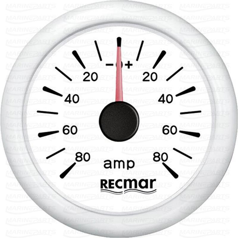 Valge ampermeeter +/- 80 A