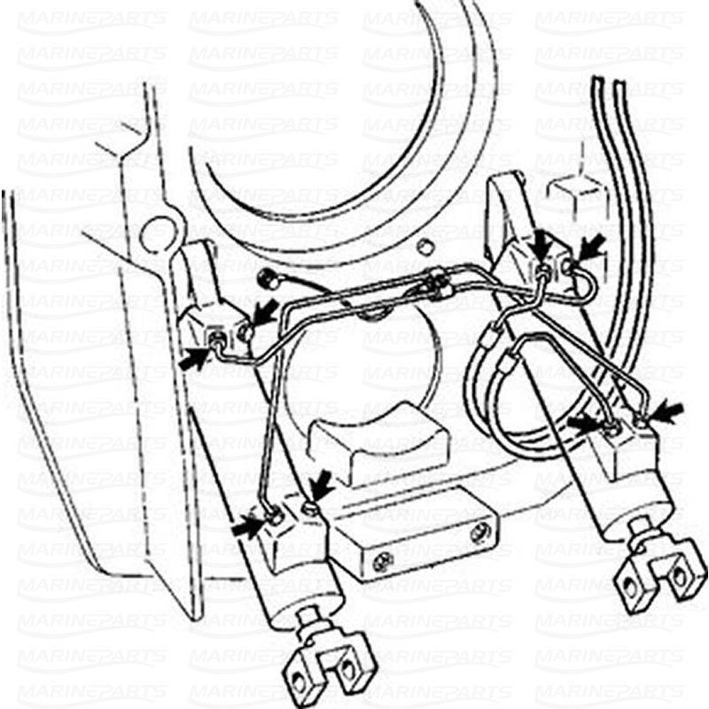 Trimcylinder Kit Type 2 Kit Marineparts Eu