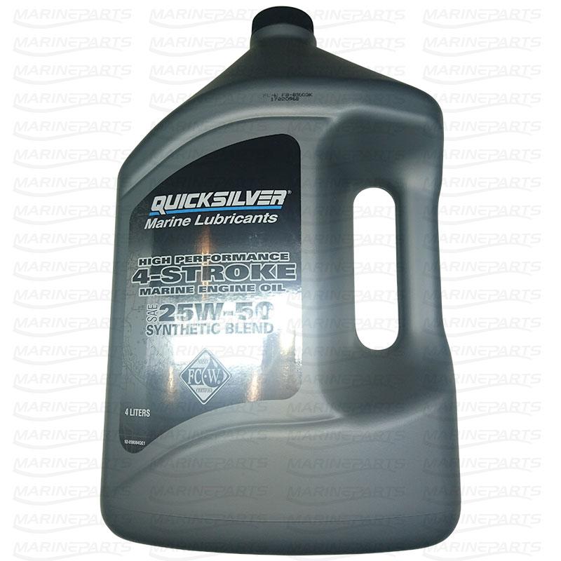 Motorolie Quicksilver 25W-50 Syntetisk Blanding Verado 4L