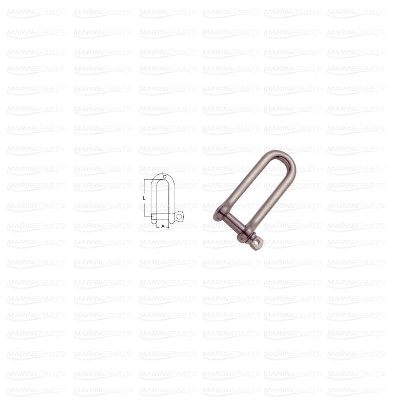 Pikk D-seekel AISI316 8 mm