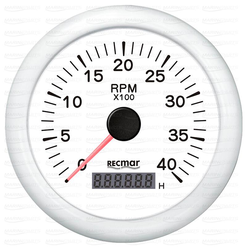 Valge tahhomeeter 4000 rpm