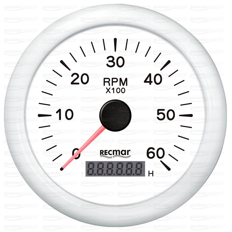 Valge tahhomeeter 6000 rpm