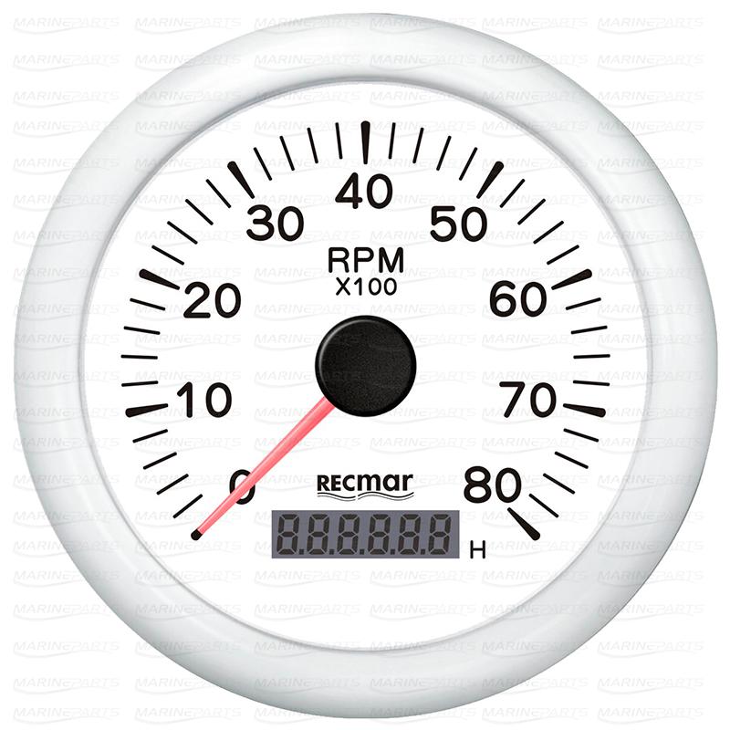 Valge tahhomeeter 8000 rpm