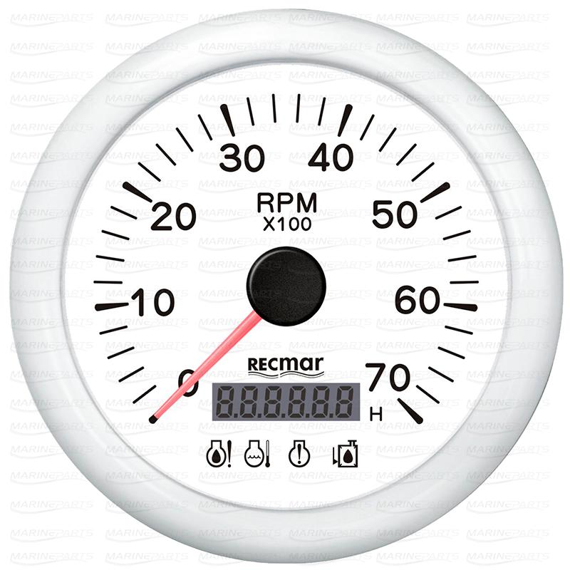 LED-alarmiga valge tahhomeeter 7000 rpm