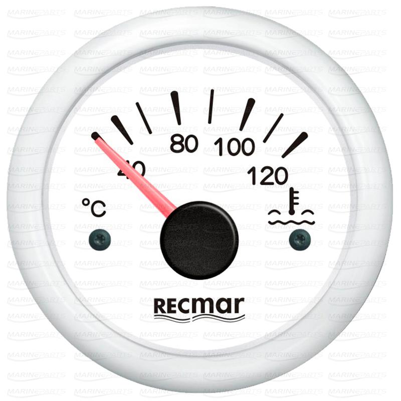 Valge veetemperatuuri näidik 40-120ºC