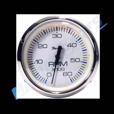 Tahhomeeter 100 mm & 6000 rpm (valge roostevabast terasest