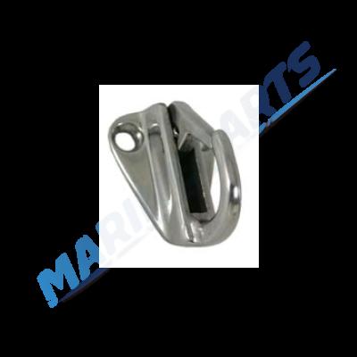 Karabinkrog i rustfrit stål S/S (2 stk.)