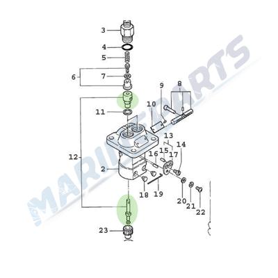 Element insprutningspump Yanmar GM serien