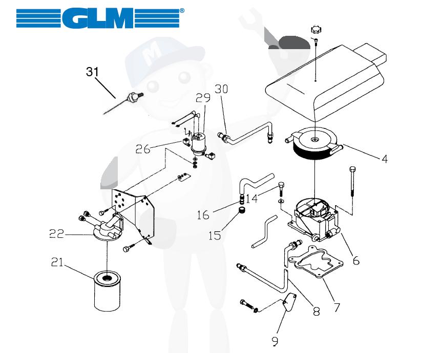Bränslesystemets reservdelar GM 4.3 ltr.