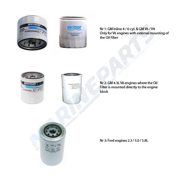Oil Filters MerCruiser gasoline