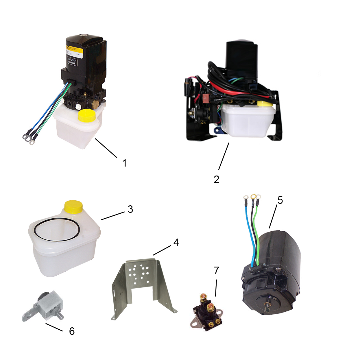 Spare parts for trimpump/motor