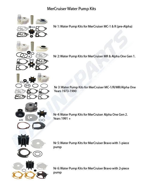 Water Pump Kits MerCruiser