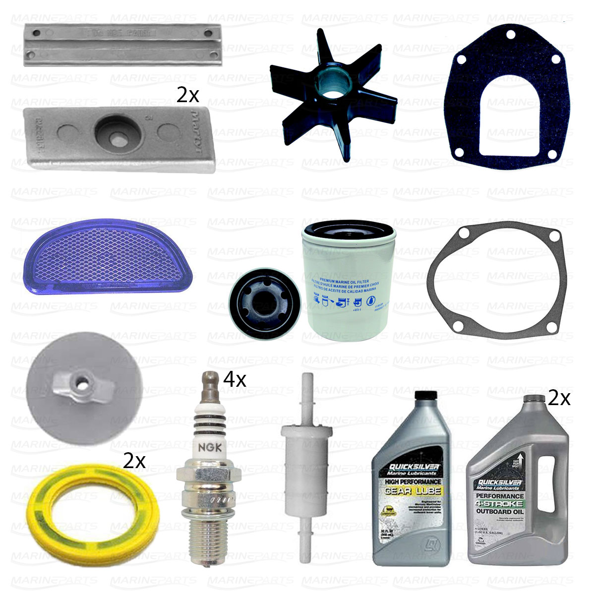 MARINER MERCURY OUTBOARD ENGINE IMPELLER SERVICE KIT 75HP 90HP