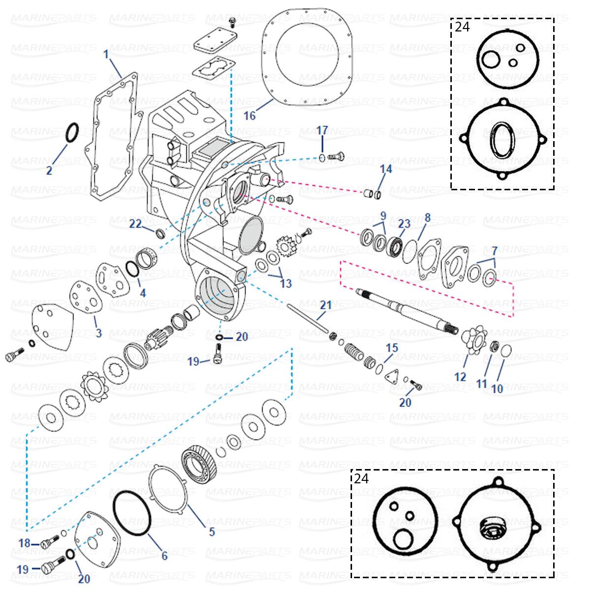 OMC Stringer 400-800 ahtripeegli varuosad