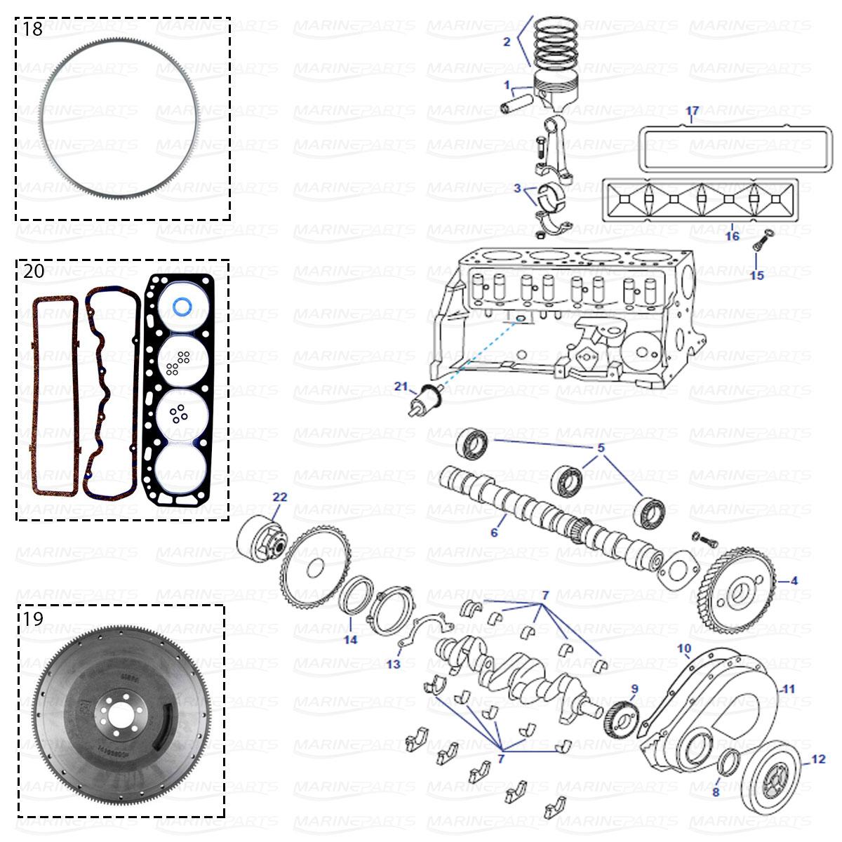 GM181 2.5/3.0 l mootoriploki varuosad