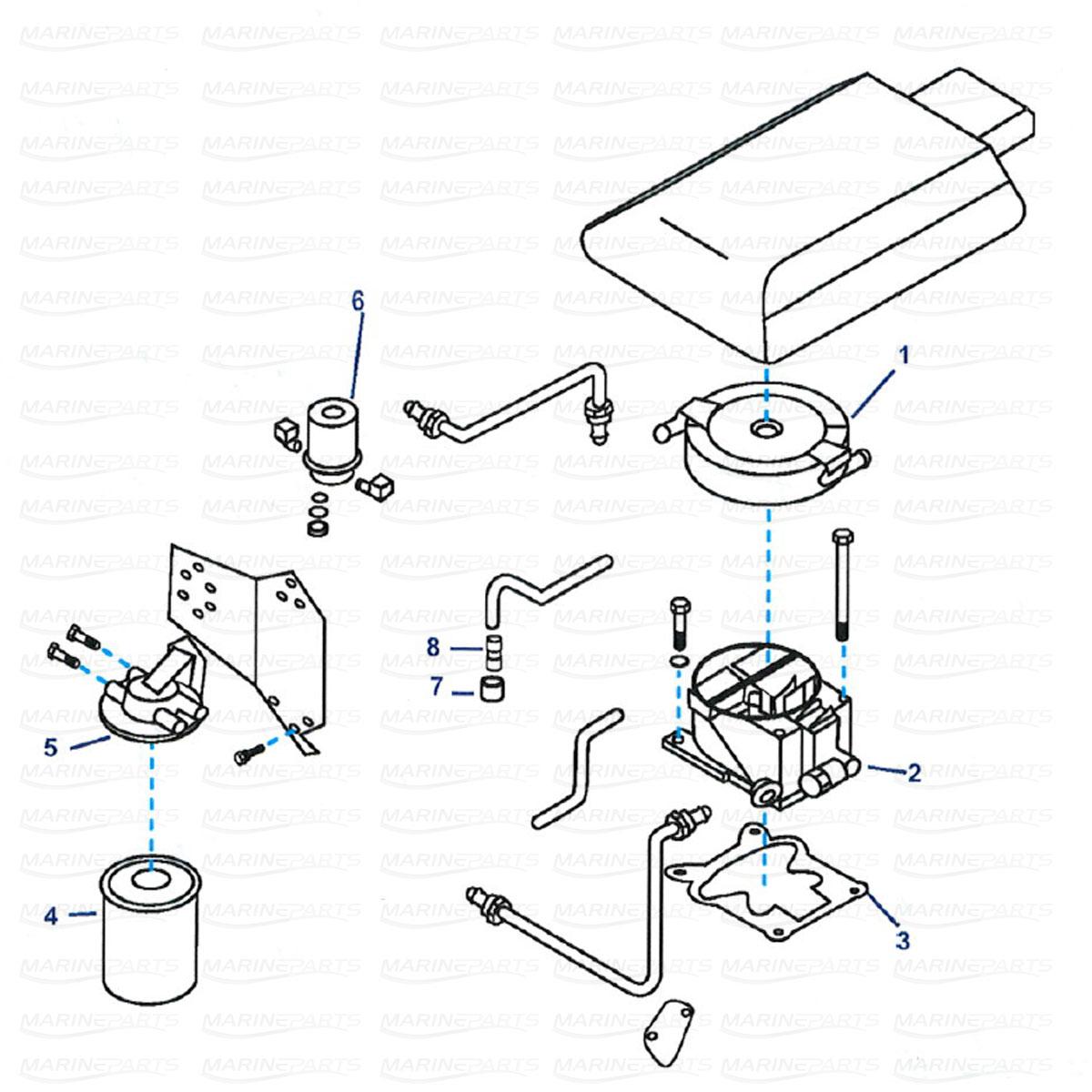 Drivstoffsystemets reservedeler GM V8