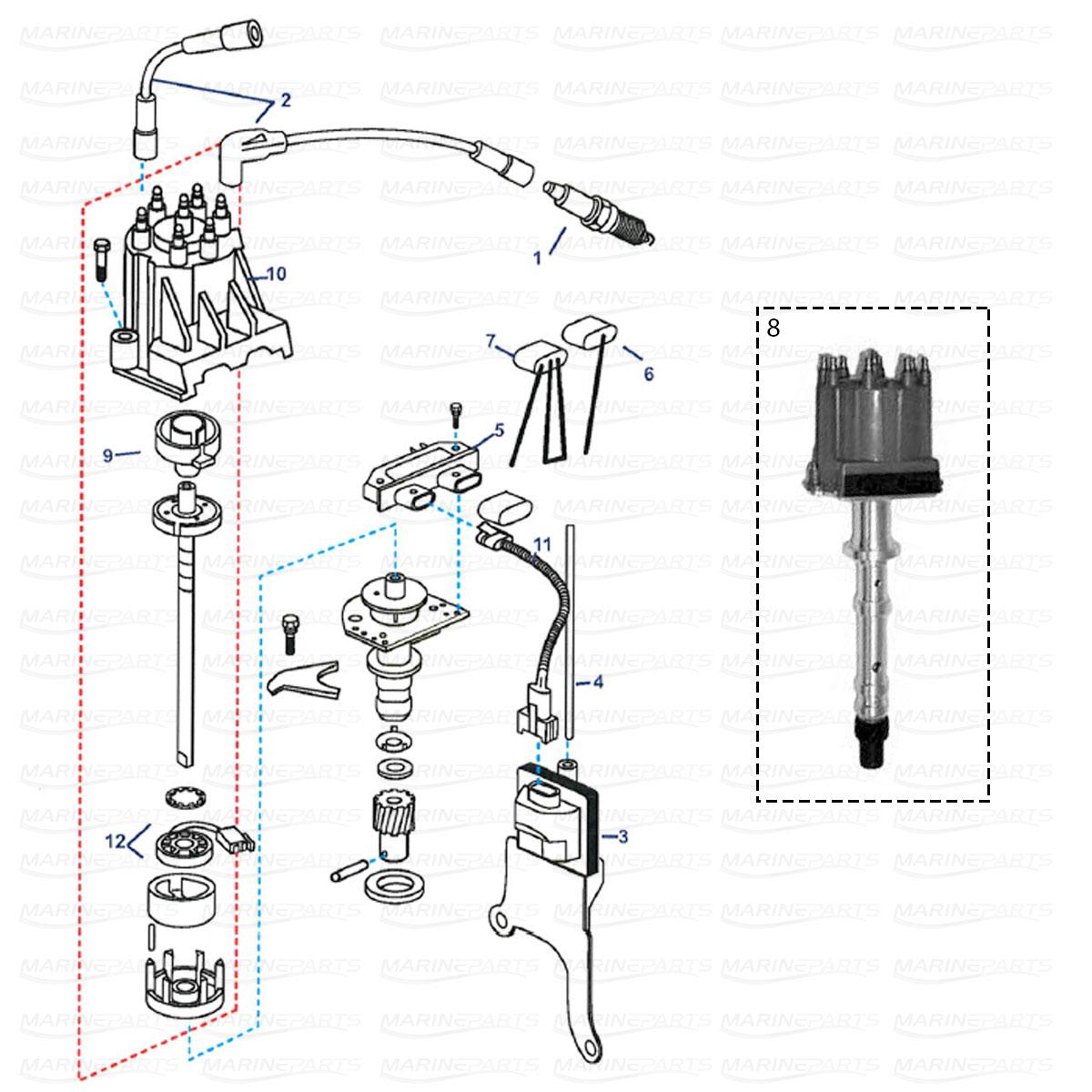 Ignition system parts GM V6