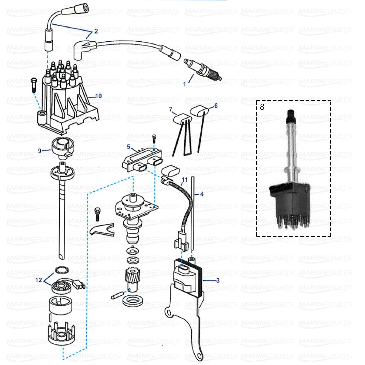 Ignition system parts GM V8 5.0, 5.7L