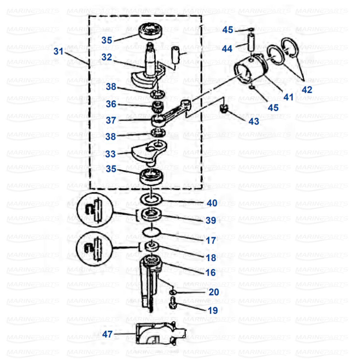 Engine Parts Yamaha 4AC - 5C