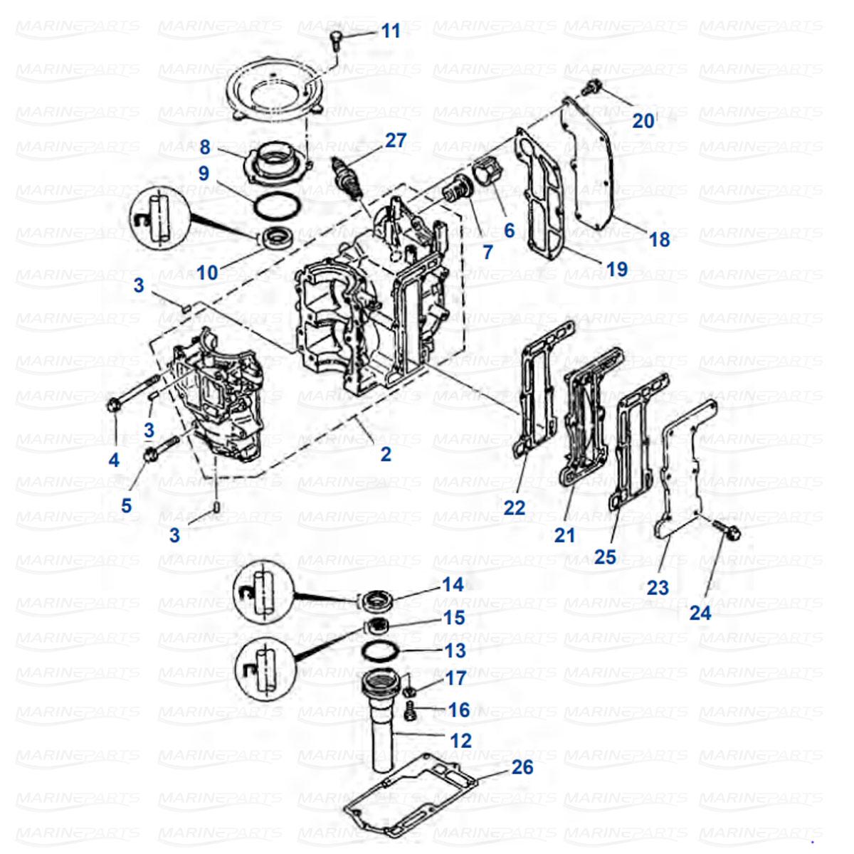 Engine Parts Yamaha 6C - 6D - 8D
