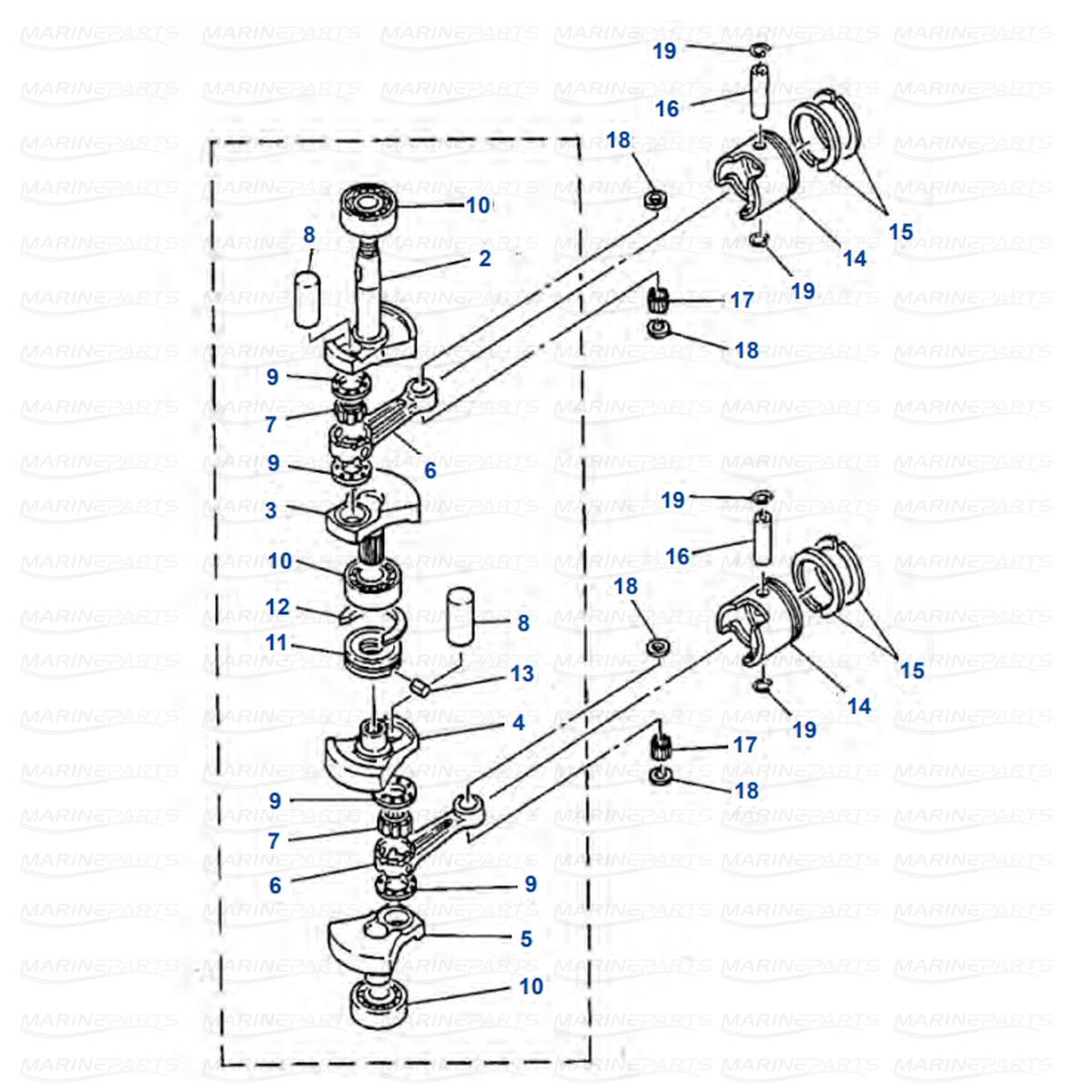 Engine Parts Yamaha E8D picture 2