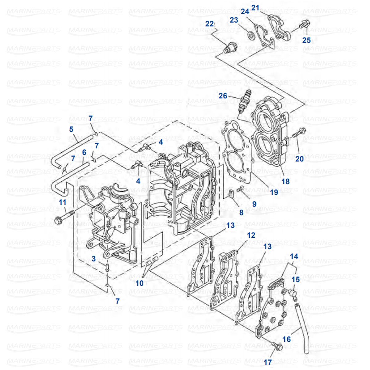 Engine Parts Yamaha 9.9F - 15F - E9.9C - E15C
