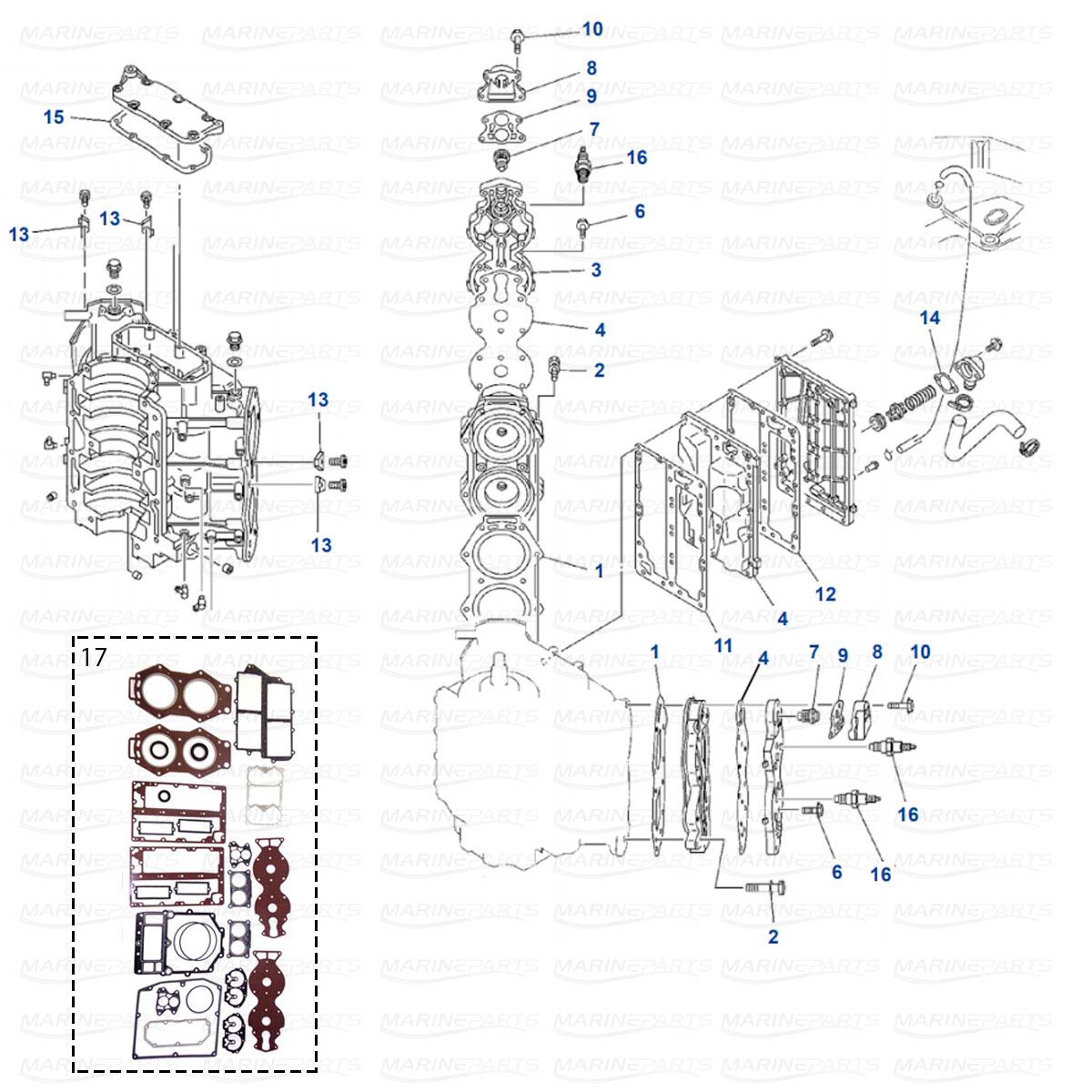 Engine Parts Yamaha 115C - 130B