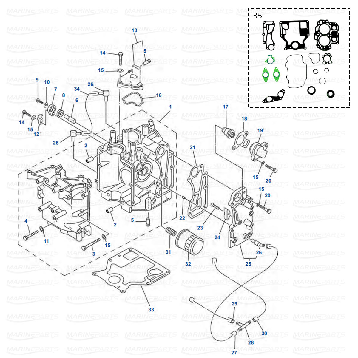 Karter Yamaha F9.9 (2004-06), F13.5 (2003-06), F15 (2003-07)