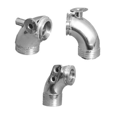 Exhaust Elbows stainless steel for Volvo Penta