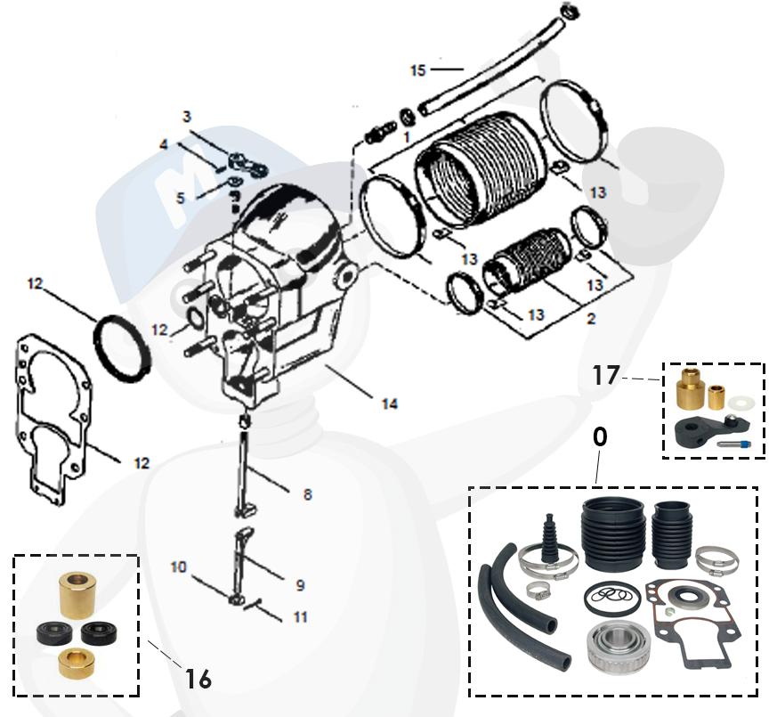 MerCruiser Alpha One Gen. 1 (1975-1990) transom partlist 1