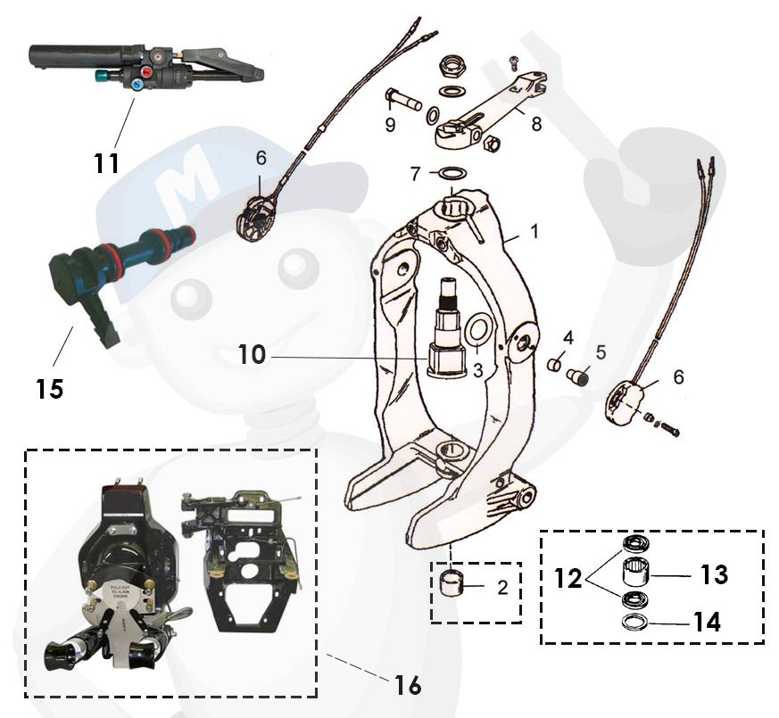 Spare parts gimbalring/steering MerCruiser Bravo
