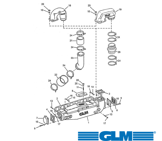 Pakosarjan osia OMC 4 syl. 3.0 ltr. 140 hv (1973-1990)