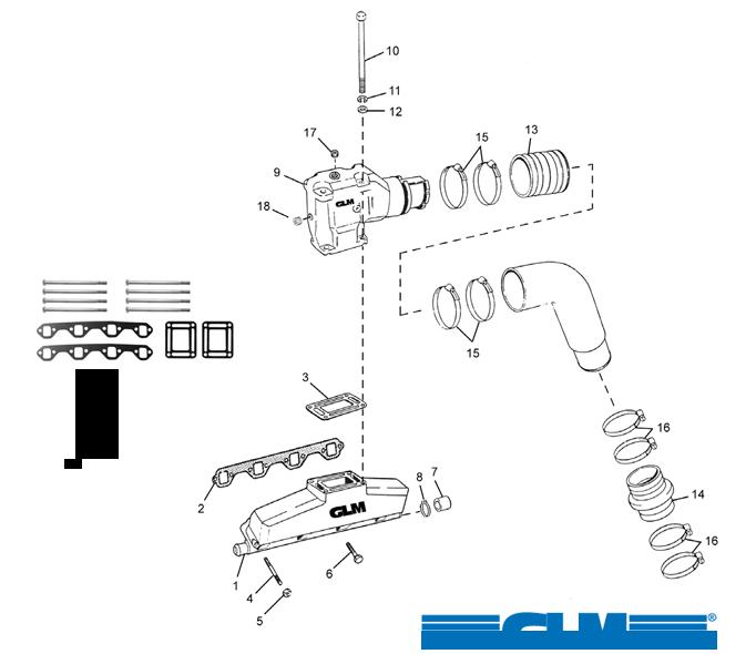 Pakosarjan osia OMC V8 EFI [FORD V8 302/351] VM 1991+