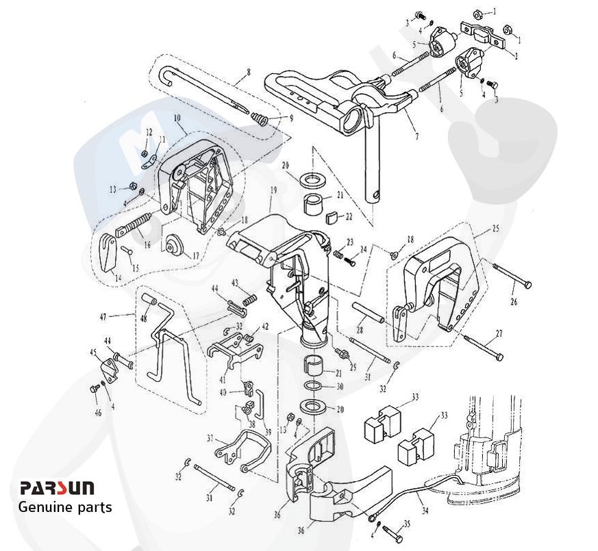 Engine bracket type 1
