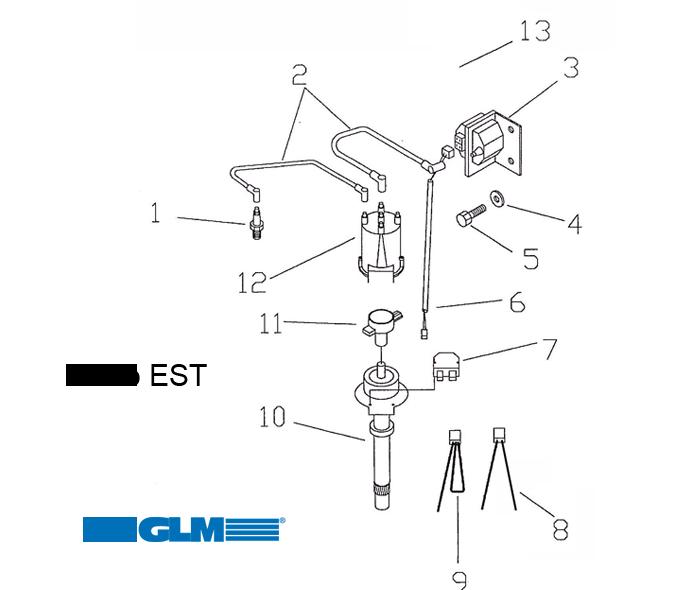 Sytytysjärjestelmä GM 4 syl. digitaalinen EST järjestelmä